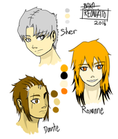Contract Characters Colour Ref [Part 2] by BakaReonhato