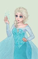 Queen Elsa by valrise