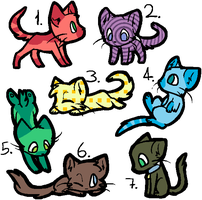 OPEN Cat Adoptables~ by Plateofgaming