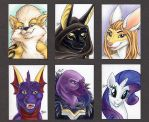 ACEO Color Headshots 2 by ScullyRaptor