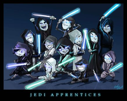 Jedi Master Apprentices by Zeng