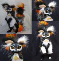 SOLD Papillon Lemur OOAK Poseable Art Doll by Lufirel
