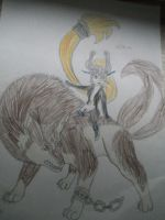 linkwolf and Midna by linkgirl1