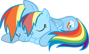Rainbow Dash and Rainey Daze by GaiaGirl2468