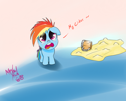 Filly Dashie Dropped her Cider by max301