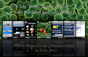 iPhone Theme for W660i by Tone94