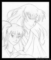 The Lord and Lady Sesshomaru by tarkheki