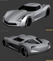 Chevy Corvette Stingray WIP1 by The-IC