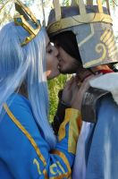Queen Ashe and  King Tryndamere Cosplay by sakurimake
