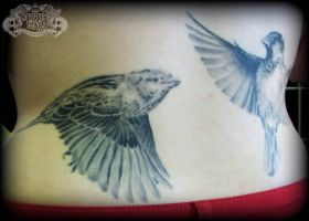 Sparrows healed 1 by state-of-art-tattoo