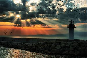 again lighthouse by tokimato
