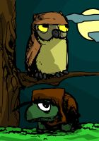 Owl and Turtle by tarmalesh