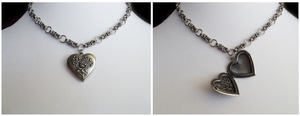 Modular Chainmail Necklace with Locket by Pharewings
