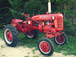 red tractor by ribcage-menagerie