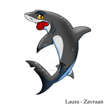 Grey reef shark - Chibi by zavraan