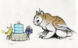 Birthday Stitch by RobtheDoodler