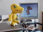 Agumon Papercraft by DraikenTalkos