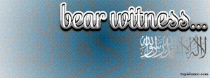 Bear Witness Islamic Facebook Cover by topmuslim