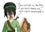 Toph vs the Gorgon by QwikSylverShadows