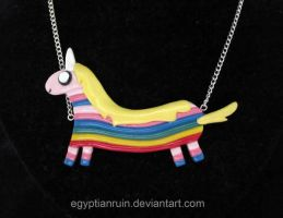 Lady Rainicorn Necklace by egyptianruin