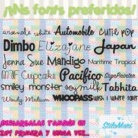 Pack de Mis Fonts Preferidas(Pedido)ZIP.By:StiMari by StiloMari