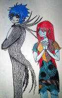 Jerza as Nightmare Before Christmas by Libra-Creates