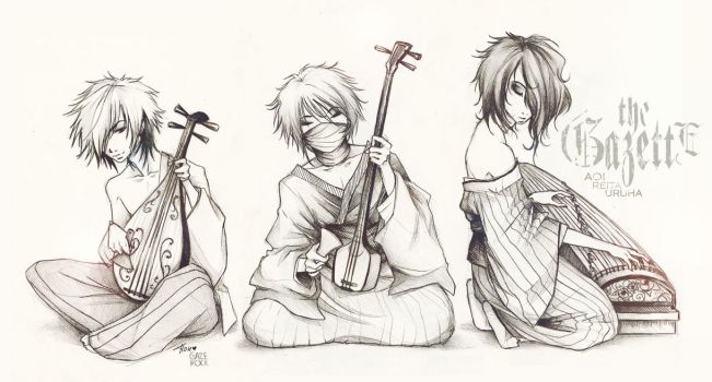 the Gazette_traditional guitarists xD by KaZe-pOn