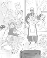 Dio and his family by Autumn-Sacura