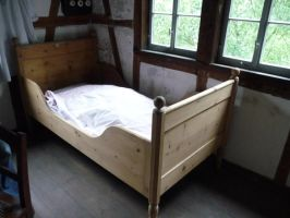old bed by mimose-stock