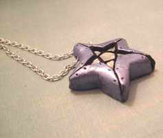 Vibrant Blue Star Pendant by SweetButEvil