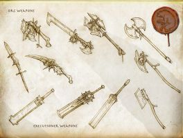 Orc and Executioner Weapons by Rodrigo-Vega
