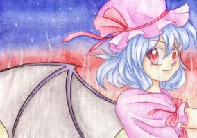 Remilia Scarlet - Birthday present for Franzi x3 by Malinya