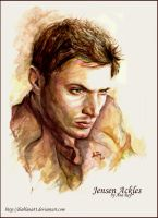 Jensen Ackles. Watercolors by diablana81