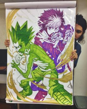 Gon and Killua - Flip Chart by ToPpeRa-TPR