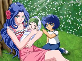 La mama de Ikki y Shun1~Saint seiya Fan Arts by LoveShun01