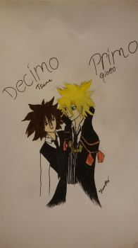 KHR Tsuna and Giotto by 9MoonFox