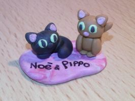 Cats fimo by bimbalove81