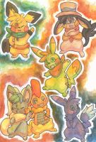 Watercolour Pokemon Batch 2 by Yakalentos