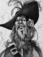 POTC caricatures_Barbossa_Jack by mjk-art