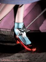 ~The Ruby Slippers~ a 3d Render by LeoDiamond