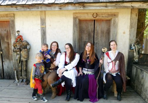 Our Family at Scarborough Renaissance Festival by MissGypsyMomma