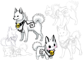 Ash Dog doodles by VengefulSpirits