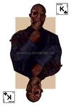 Gus Fring's Death - King Of Clubs Card by SaintDill