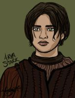 Arya Stark sketch by bratchny