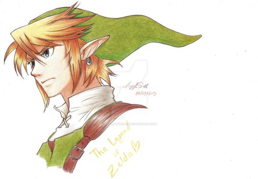 Link drawing by LayzeMichelle