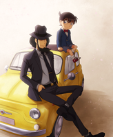 Conan and Jigen by Arya032