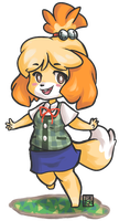 ACNL: Isabelle by Kita-Angel