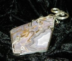 Purple lace agate with druzy by DPBJewelry