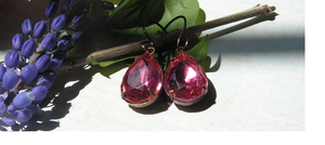 Pink Vintage Earrings by artistiquejewelry