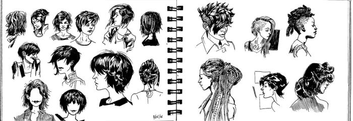 Sketches for Hair by DeltaJack